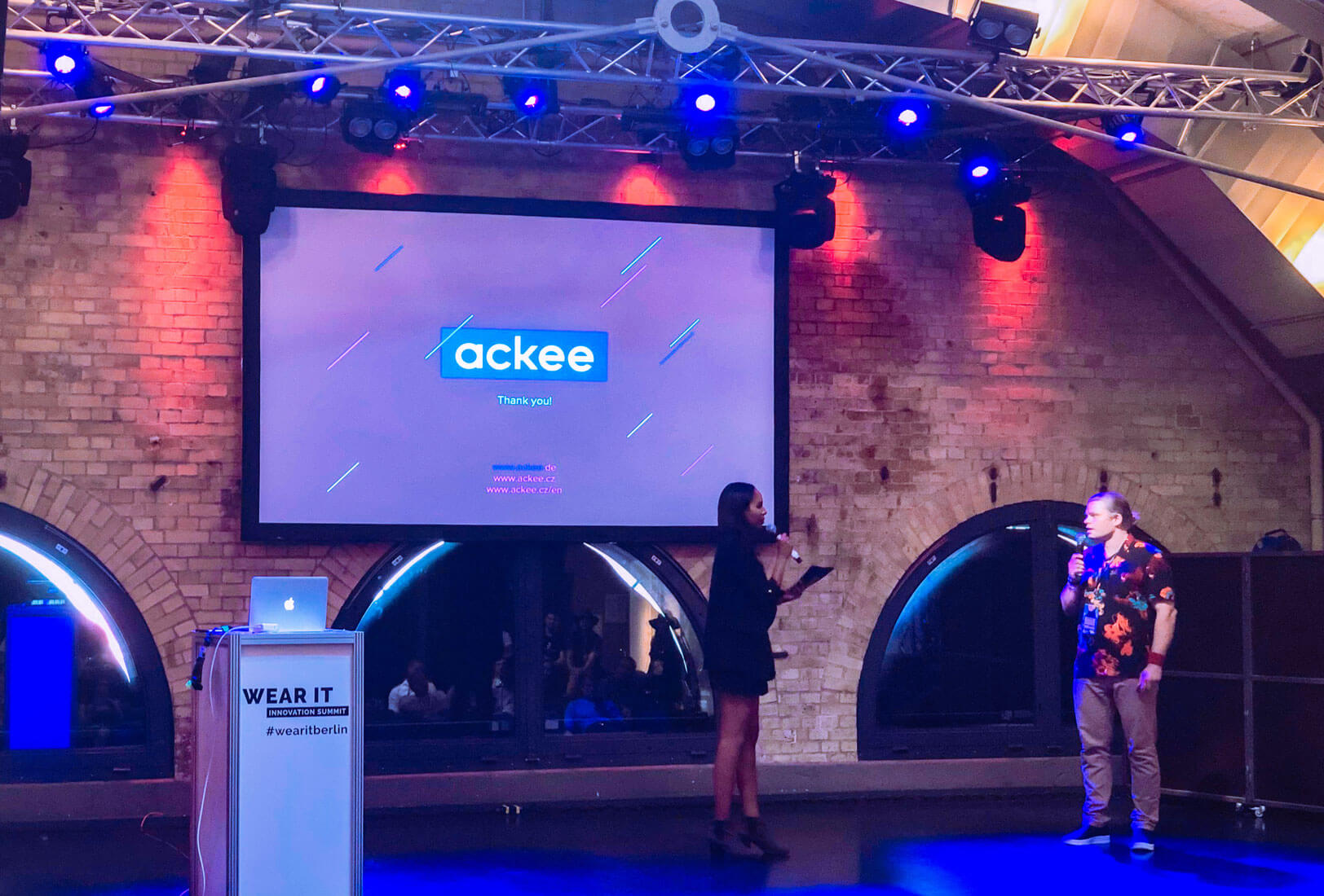 Unser Business Development Manager Alex beim Wear It Innovation Summit 2019. ©Ackee