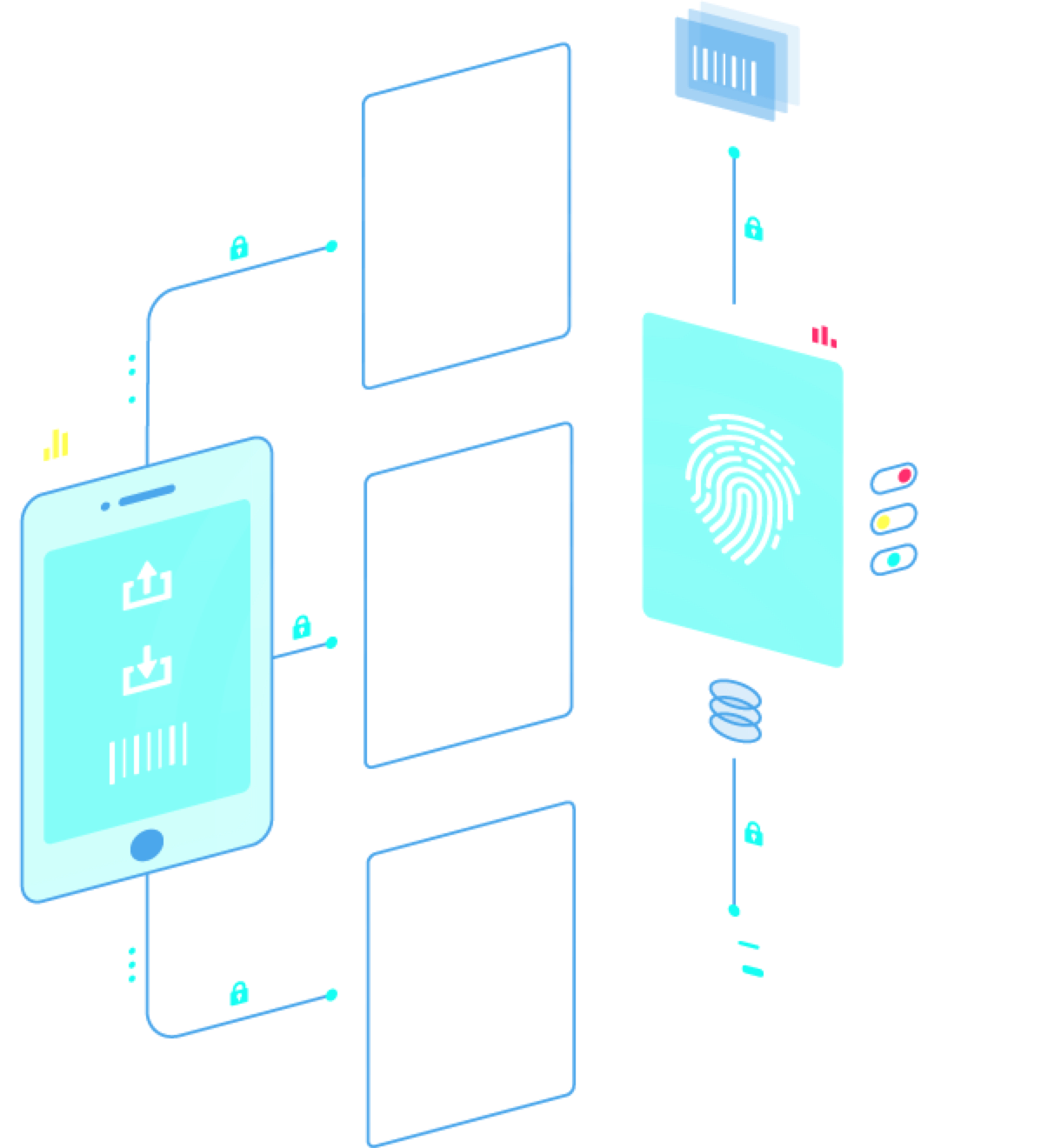 Finger print usage graphics