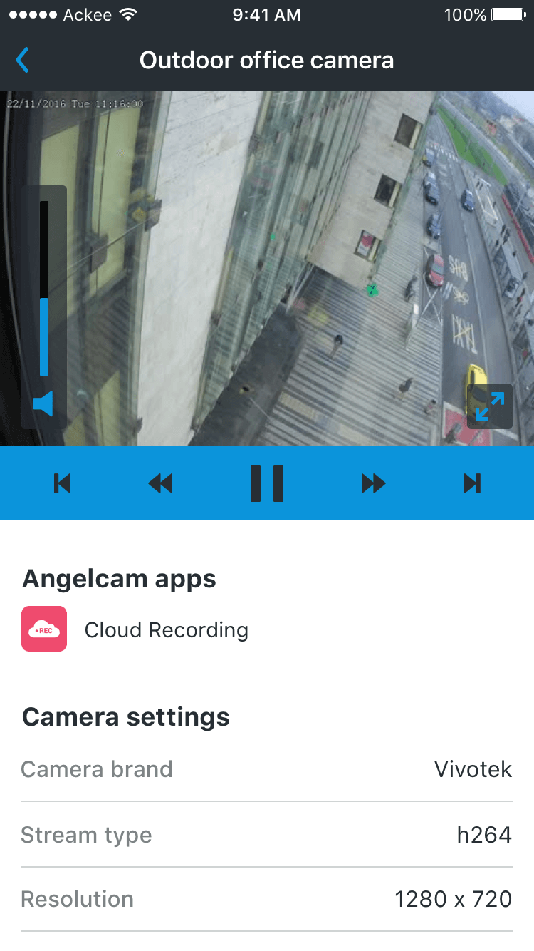 Mobile App Angelcam @ackee